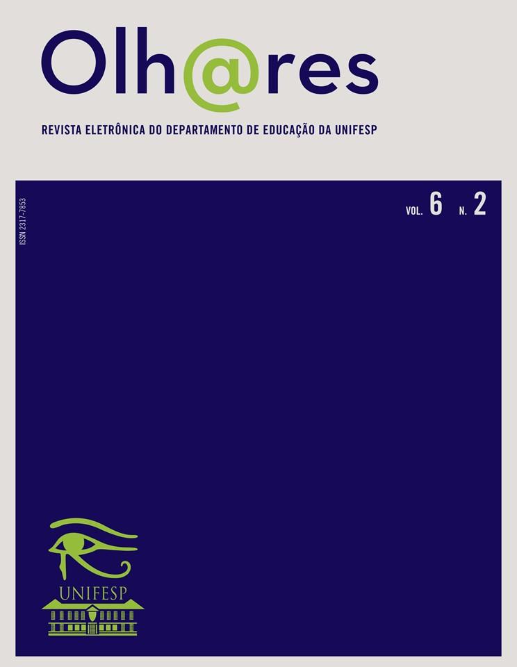 Visualizar v. 6 n. 2 (2018): Revista Olhares - REVISTA DO DEPARTAMENTO DE EDUCAÇÃO - UNIFESP