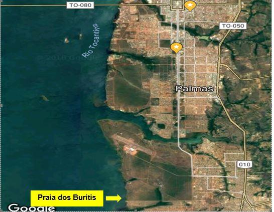 Mapa com localização da praia estudadas - Location map with the beaches studied.