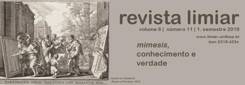 Imagem capa do dossiê mimesis, conhecimento e verdade