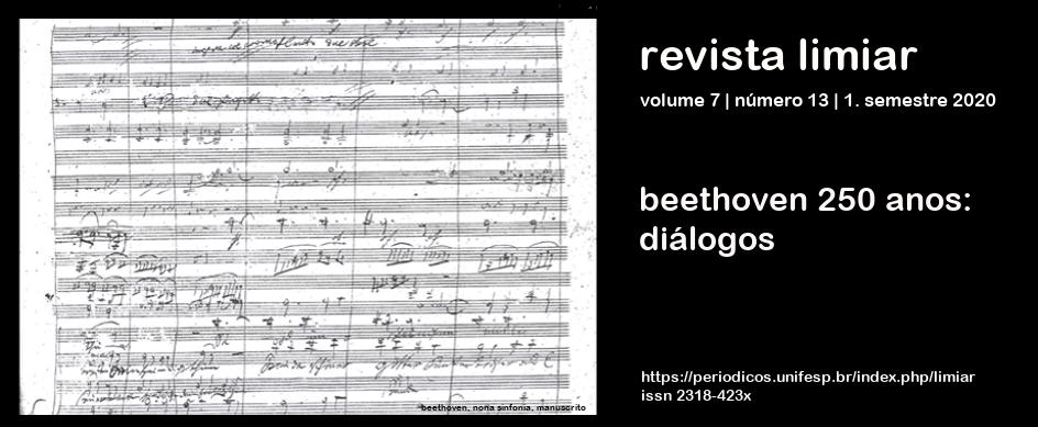 Visualizar v. 7 n. 13 (2020): Beethoven 250 anos: diálogos