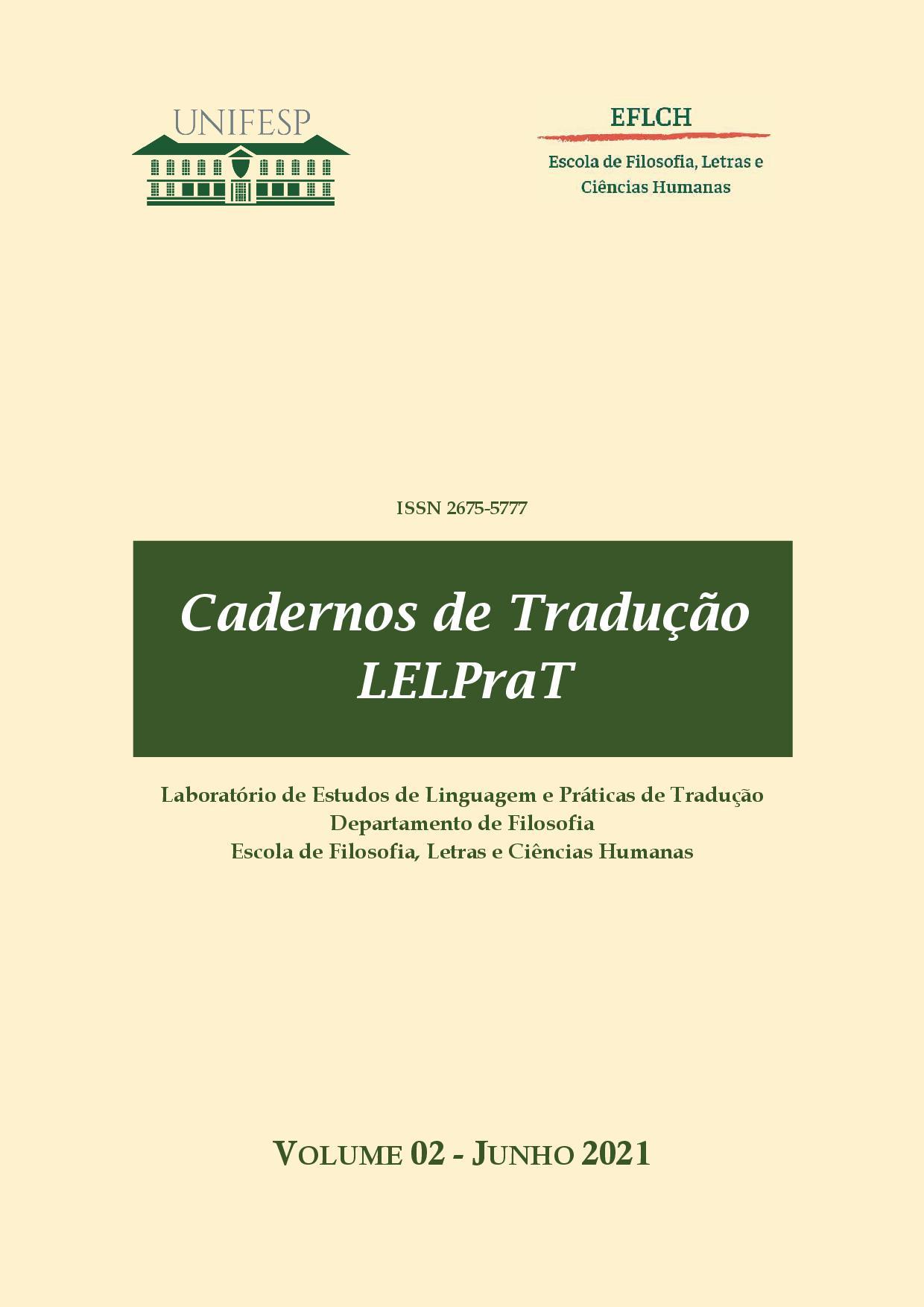 Visualizar v. 2 (2021): Cadernos de Tradução LELPraT