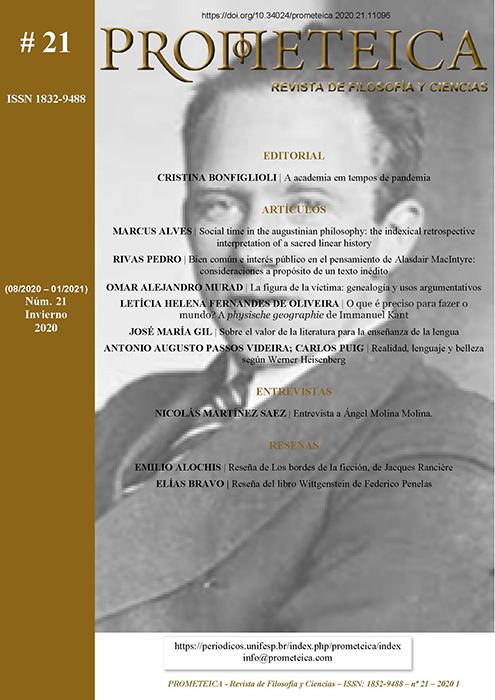 Ver Núm. 21 (2020): Prometeica - nº 21 (08/2020 - 01/2021)